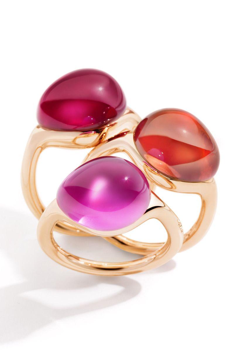 07e30587c98a Anillos de oro rosa con rubí sintético