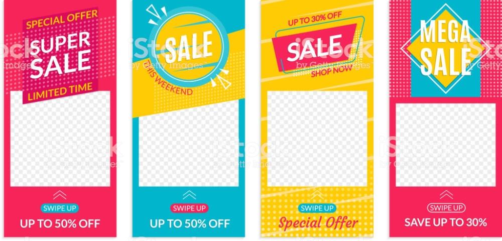 Instagram Stories Sale Banner Design Templates Discount Frames For Banner Template Design Banner Design Sale Banner
