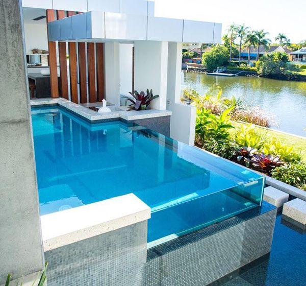 20 Stunning Glass Swimming Pool Designs | Glass pool, Pool designs ...