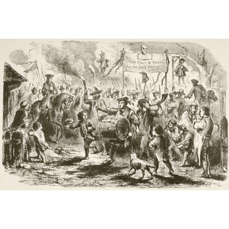 The Stamp Act Riots In New York 1765 From A 19Th Century Illustration Canvas Art - Ken Welsh Design Pics (18 x 11)