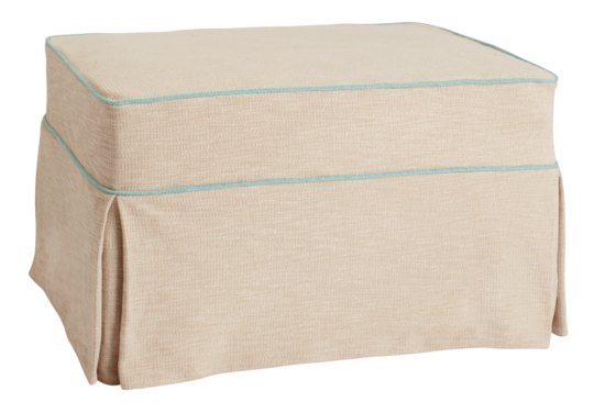 Ottoman With Brown Zebra Slipcover Slipcovers Ottoman Bed Ottoman