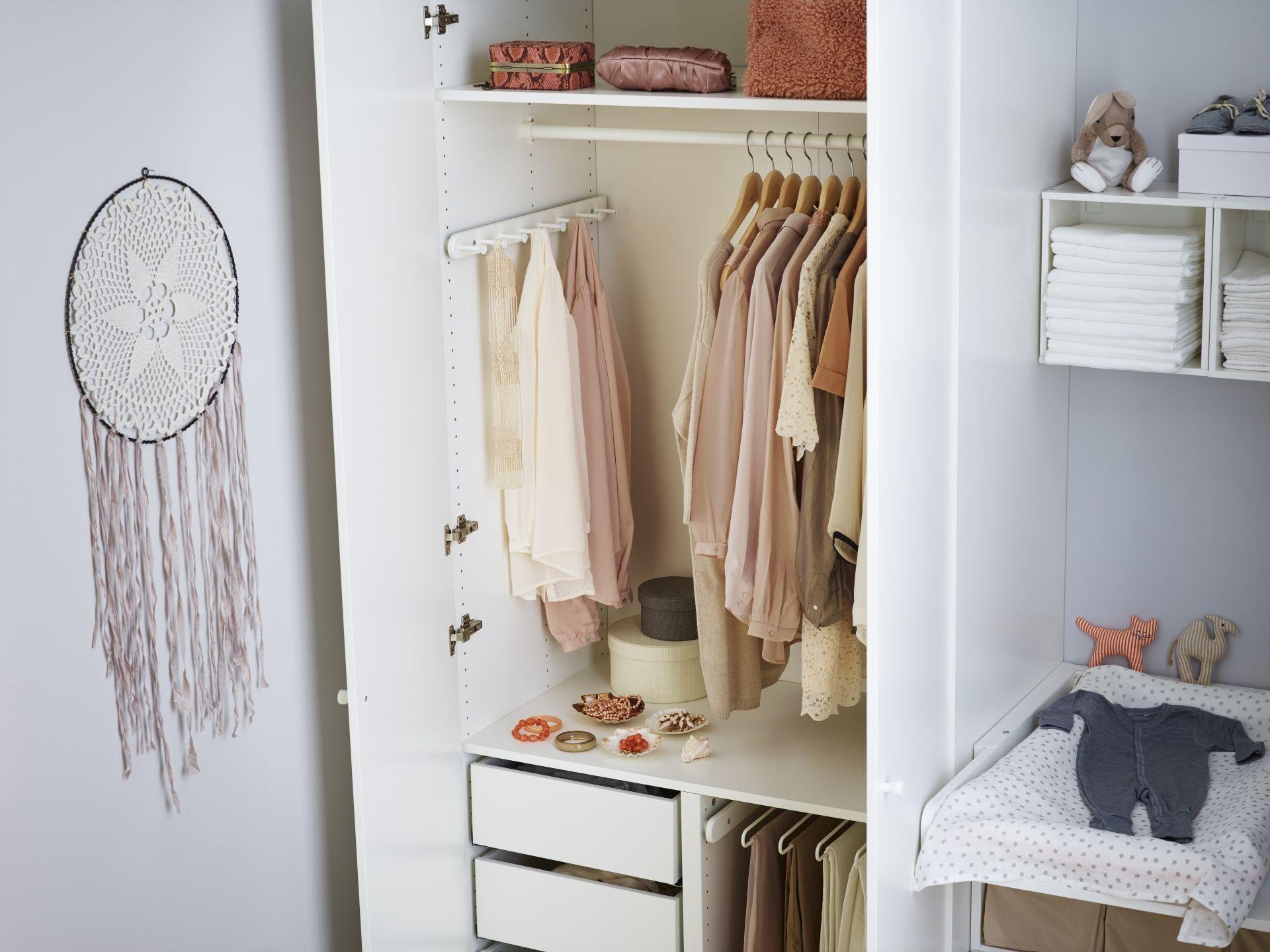 Pax garderobekast ikea ikeanederland ikeanl wooninspiratie inspiratie kast slaapkamer - Baby slaapkamer deco ...