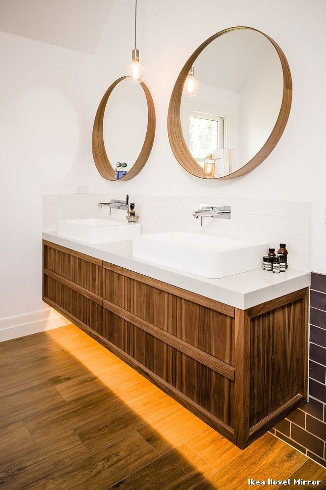 Ikea Hovet Mirror Modern Badezimmer With Floating Bathroom Vanity By Steding Interiors Joinery At Melbourne