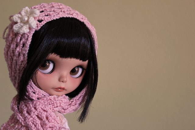 Blythe is dressed for the cold.