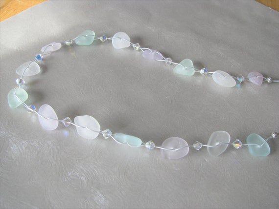 Photo of Handmade Jewelry – Original Seaglass – Pastel Sea Glass Necklace – Sea Glass Jewelry – …