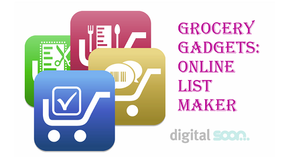 making a grocery list online