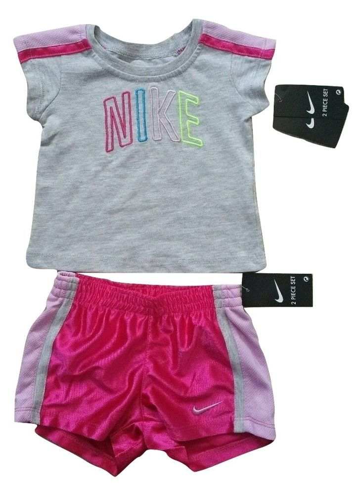 90f4d5a68 NWT Nike Baby Girls T-Shirt Shorts 2 Piece Set Dri-Fit 12 Months #Nike  #AthleticSportsEveryday