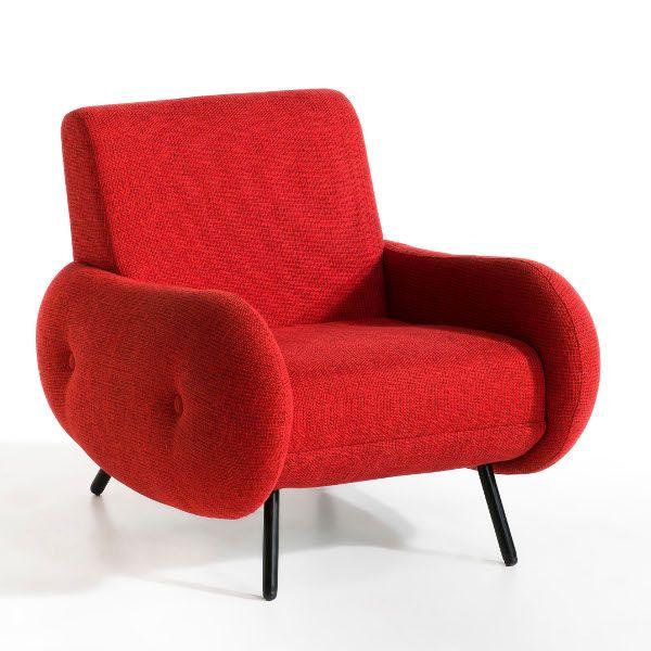 Fauteuil Vintage Fauteuil Rouge Fauteuil Années Déco Années - Fauteuil rouge design