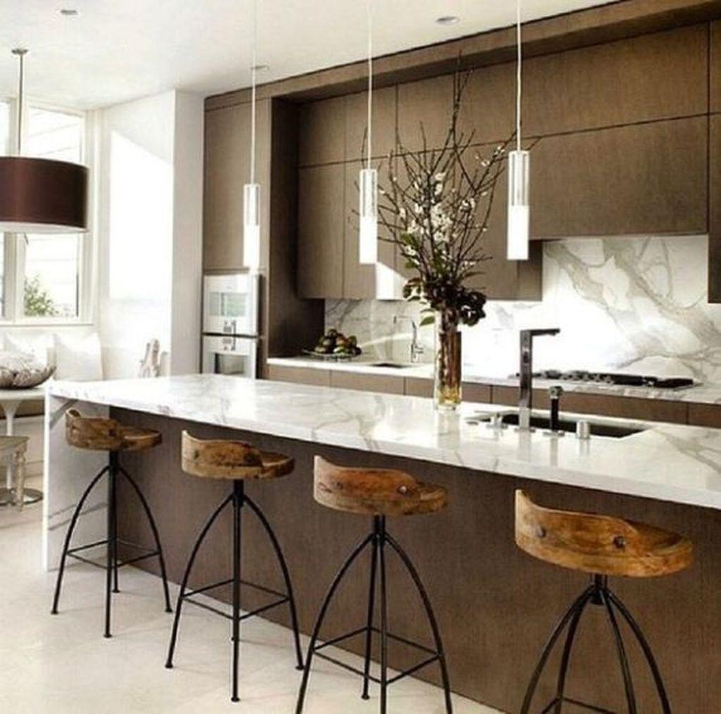 Cool 40 Stunning Modern Contemporary Kitchen Ideas