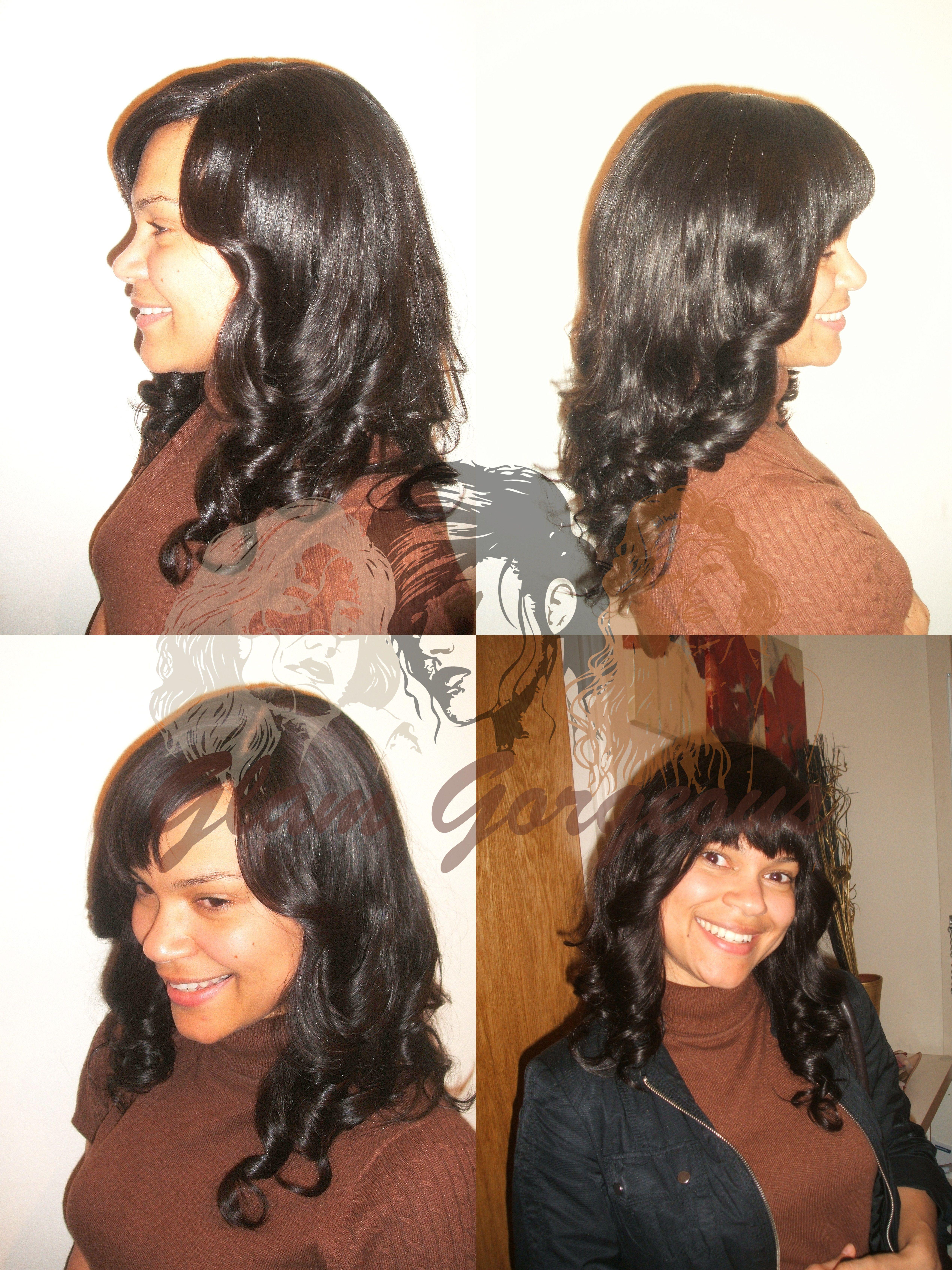 Full Head Weave With A Closure Virgin Human Hair Extensions Hair
