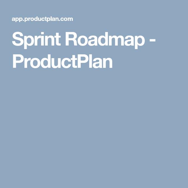 Sprint Roadmap - ProductPlan