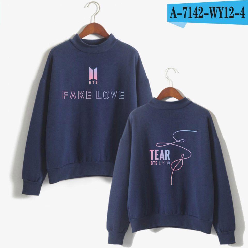 Dark Blue 92jin Womens Sweatshirts Fashion Sweatshirts Turtleneck Sweatshirt [ 960 x 960 Pixel ]