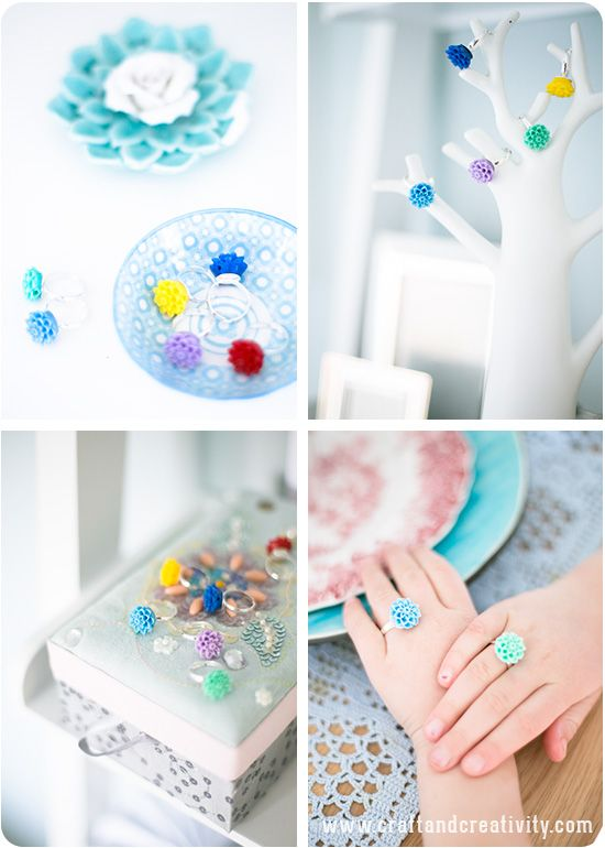 Quick Fix Flower Rings with Resin Flowers