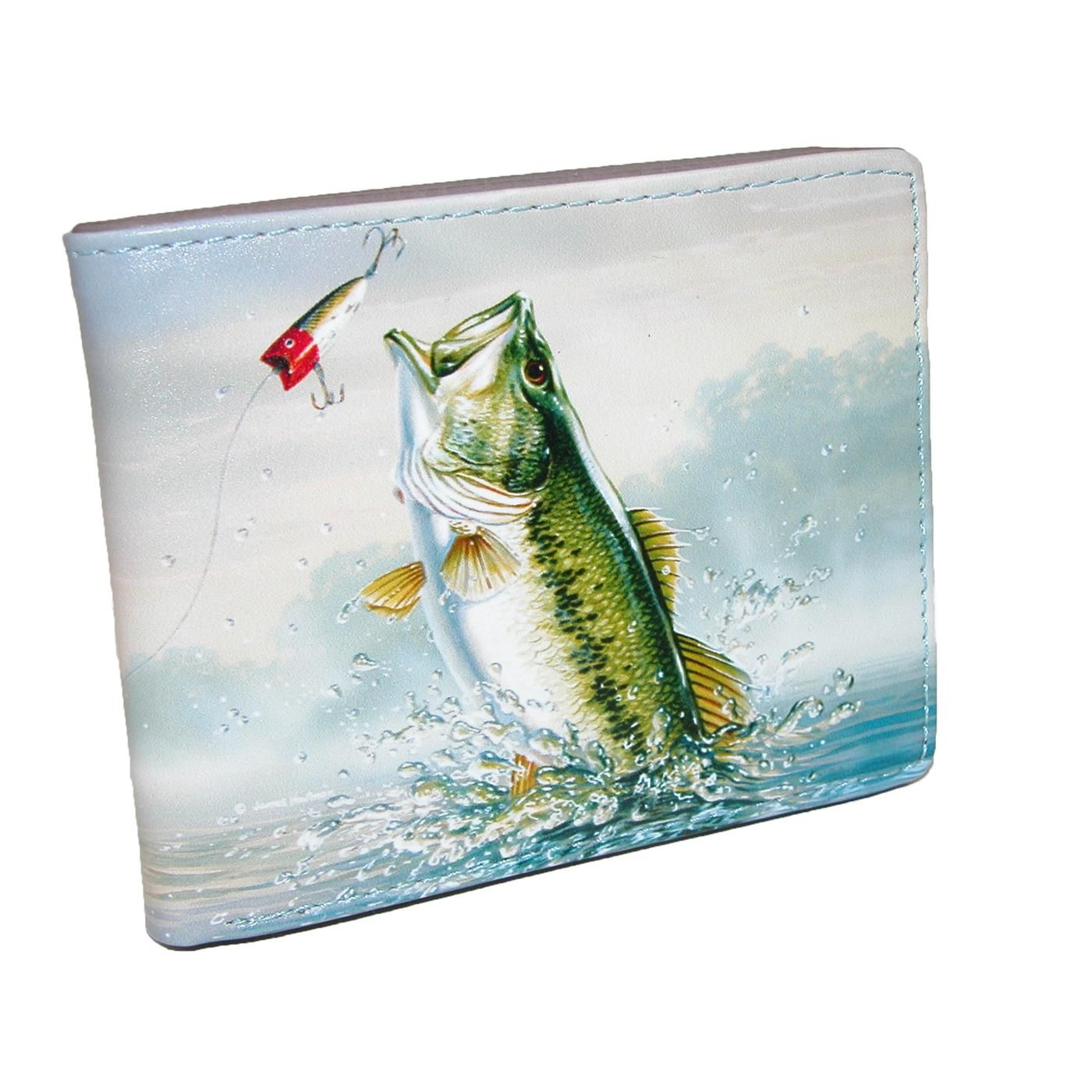 Buxton Men s Wildlife Fish Print Bifold Wallet