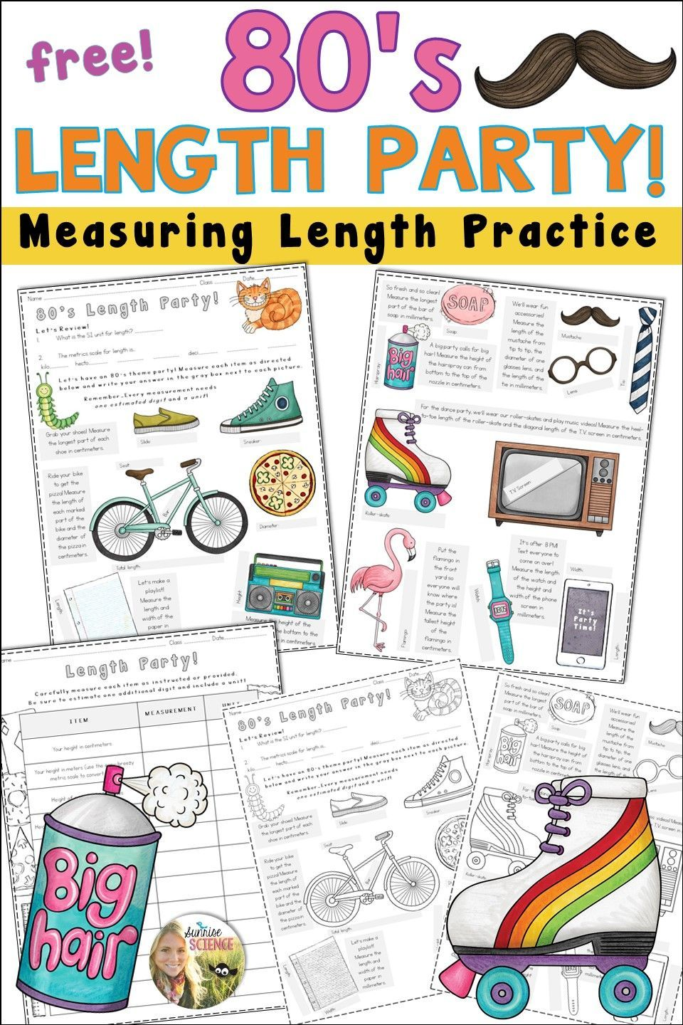 measuring length activity tpt science lessons pinterest