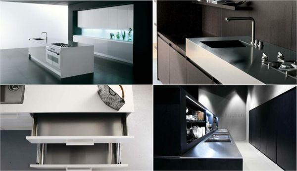 Luxuriöse, stilvolle und kompakte kleine Küche von Binova #binova - kleine u küche