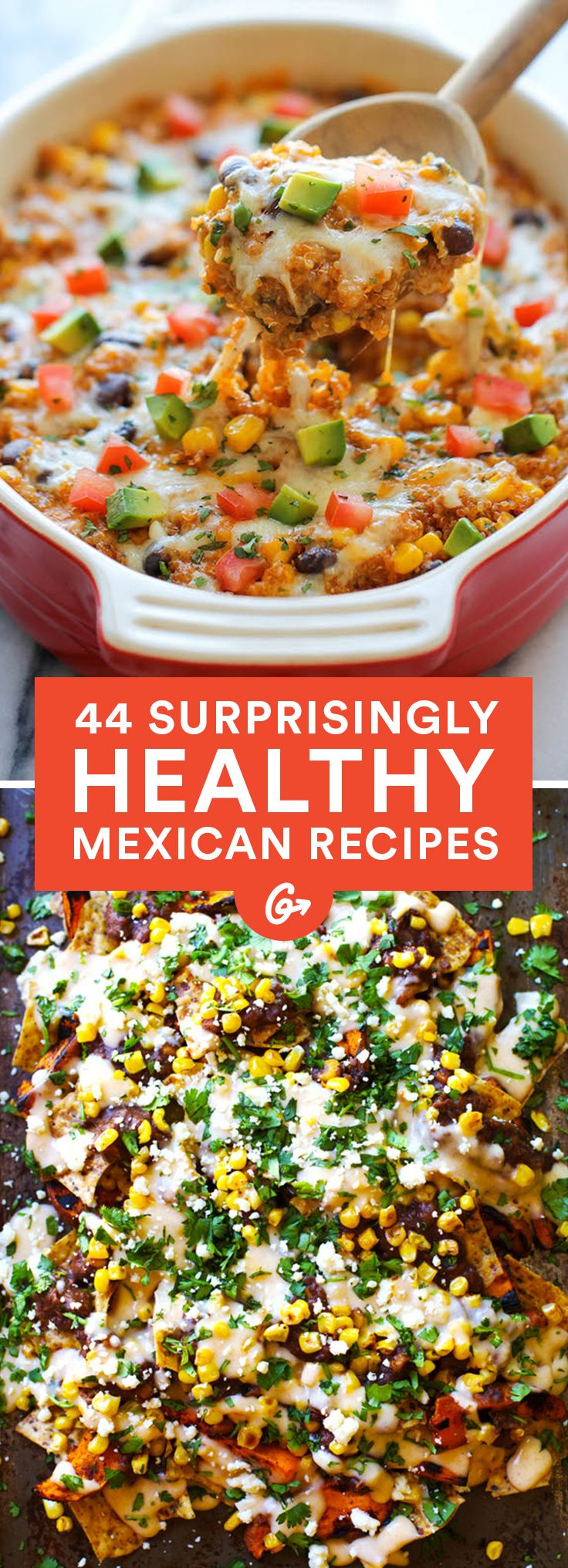 Photo of 44 Surprisingly Healthy Mexican Dinner Ideas and Recipes