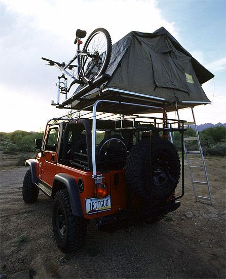 Jeep Roof Rack Mountain Bikes Tent Eezi Awn Jeep Wrangler