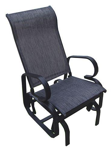 Chaise Bercante Monaco Simple Chaise Bercante Simple Monaco Roulement A Bille Structure En Aluminium Brun Et Textil Outdoor Chairs Chaise Outdoor Furniture