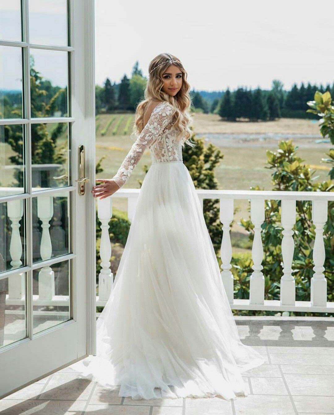 Pin By Grace On Vestidos De Novia Wedding Dress Long Sleeve Wedding Dresses Lace Long Wedding Dresses