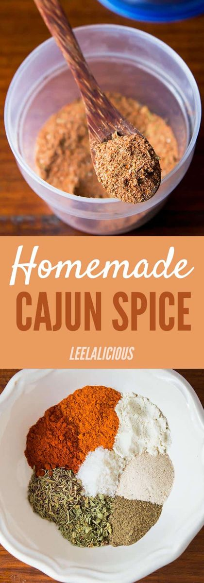 Homemade Cajun Seasoning Recipe - Leelalicious #cajuncooking