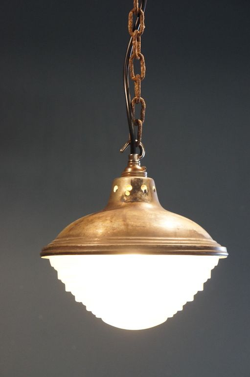Lighting 1930s French Glass Suspension Light Suspension Light Antique Lamps Vintage Lighting
