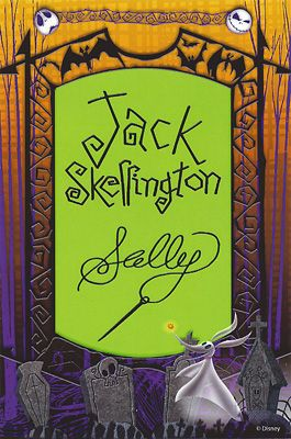 Jack Skellington Amp Sally Disney Autographs Pinterest