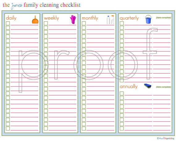 Personalized Cleaning Checklist Printable Agendas Inspirar