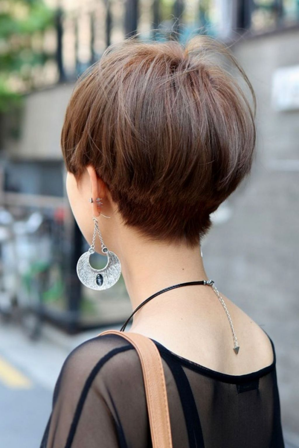 winning back view of short hairstyles fascinating short