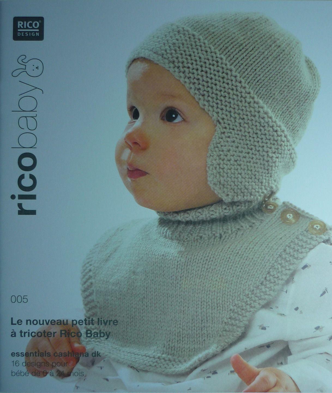 076f54e684c7 CATALOGUE RICO DESIGN. N° 005. Seize modèles pour bébé du 0 au 24 mois.    Matériel Tricot par lt-laine-a-tricoter