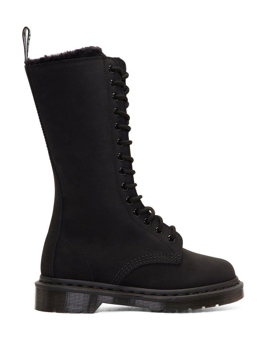 Dr. Martens Suede Fur-Lined 14-Eye Boots I8bG9Op