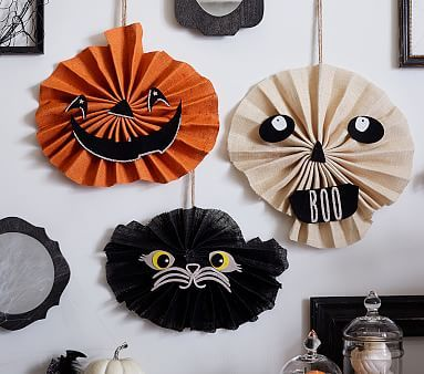 Accordion Halloween Faces, Black Cat *Halloween \u003e Halloween Decor - kids halloween party decoration ideas