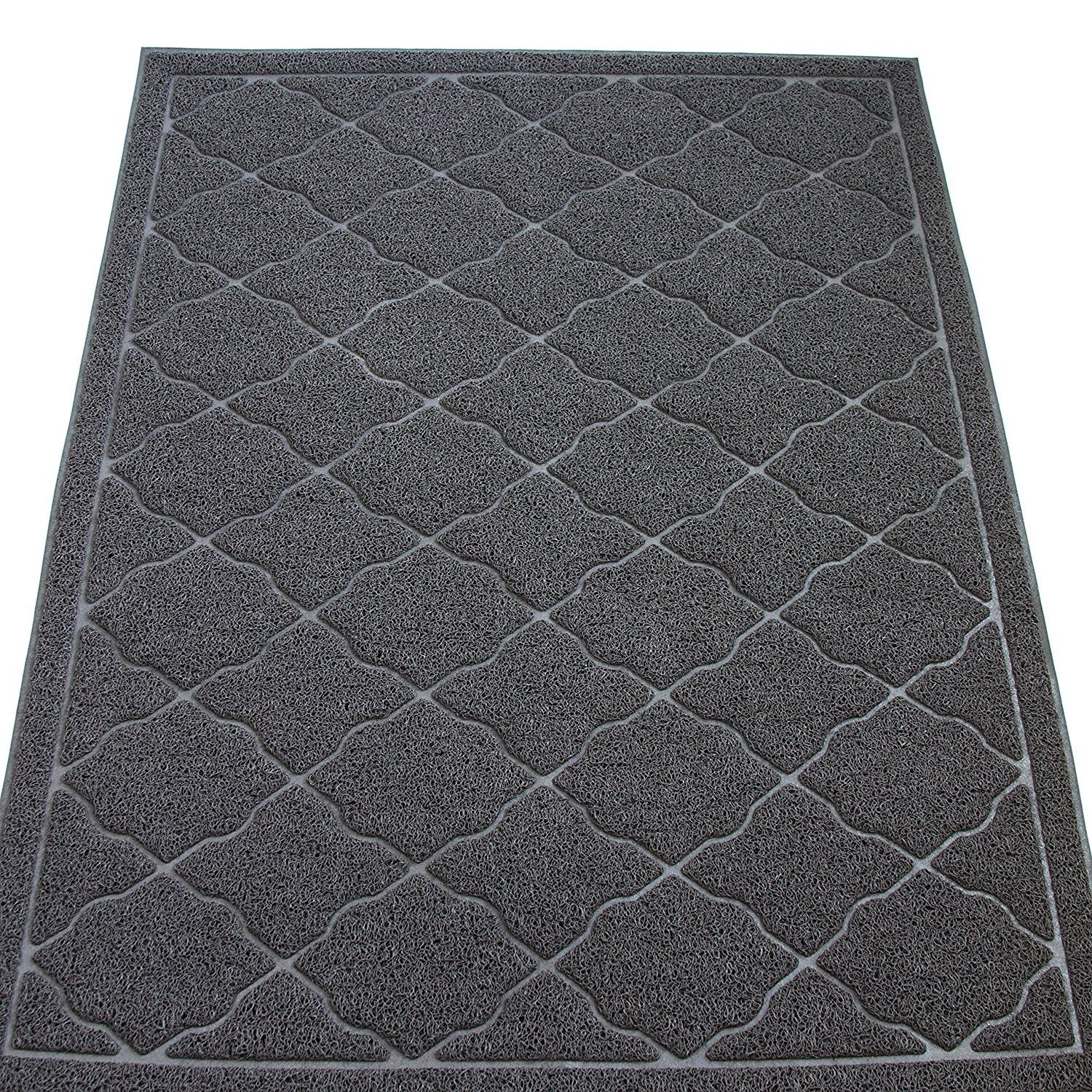 Jumbo Size (47x35 in) Cat Litter Mat By KW Pets NonToxic