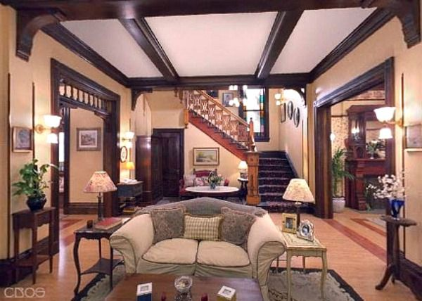 """Inside Halliwell Manor from the TV Show """"Charmed"""""""