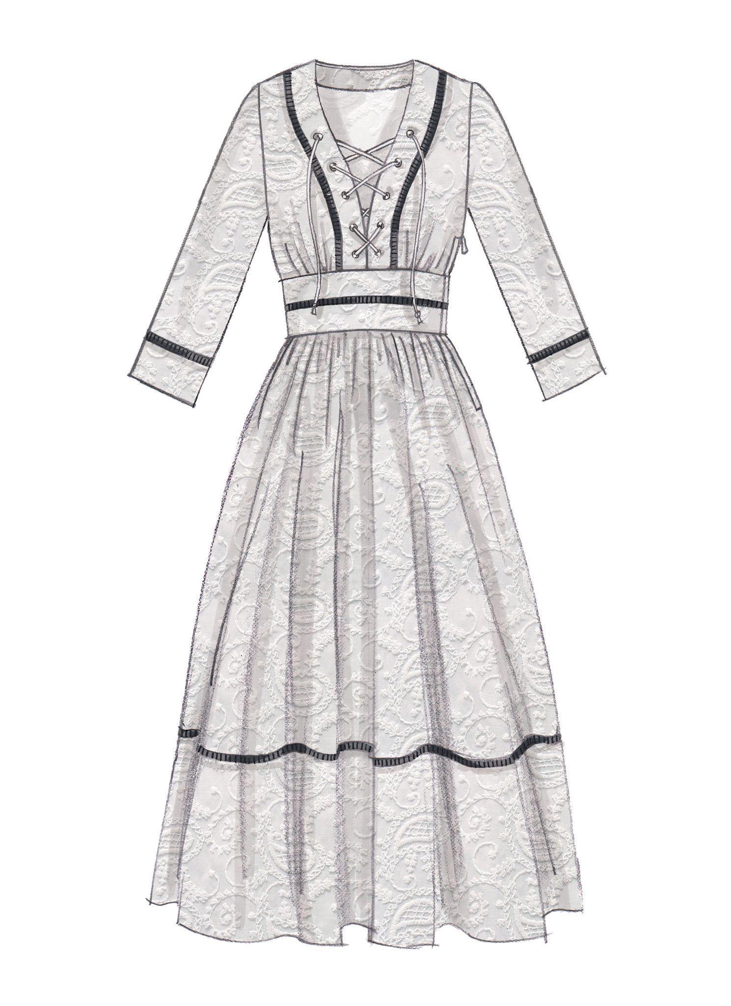 M7537 Misses\' Banded, Gathered-Waist Dresses — jaycotts.co.uk ...
