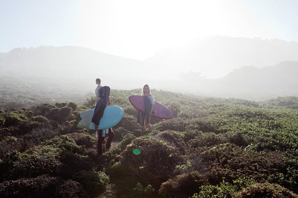 #hiking for surfing