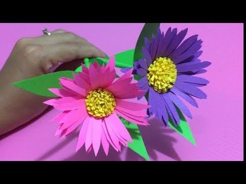 How to make heliconia flower with color paper diy paper flowers how to make heliconia flower with color paper diy paper flowers making youtube mightylinksfo