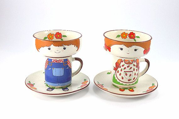 Vintage Childrens Dishes Fred Roberts Childrens Dish Set Boy And Girl Mug Bowl And Plate Childrens Dishes Found Object Jewelry Vintage Baby