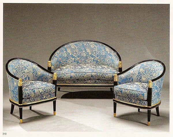 Paul Follot French Salon Composé Dun Canapé Corbeille Et - Canape et deux fauteuils