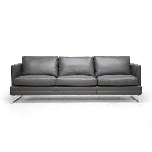 Wholesale Interiors Baxton Studio Dakota Leather Sofa | Ideas for ...