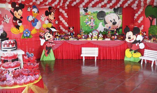 Decoraci n de fiestas infantiles de la casa de mickey - Decoracion fiestas infantiles en casa ...