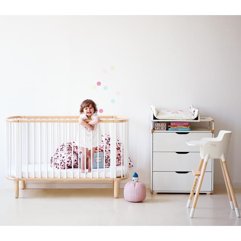 Flexa Cot Bed - White   Diddle Tinkers kids nursery furniture ideas ...