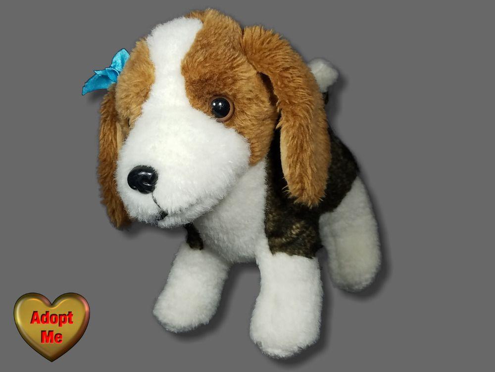 Battat Brown White Beagle Puppy Dog Stuffed Plush Animal 10in