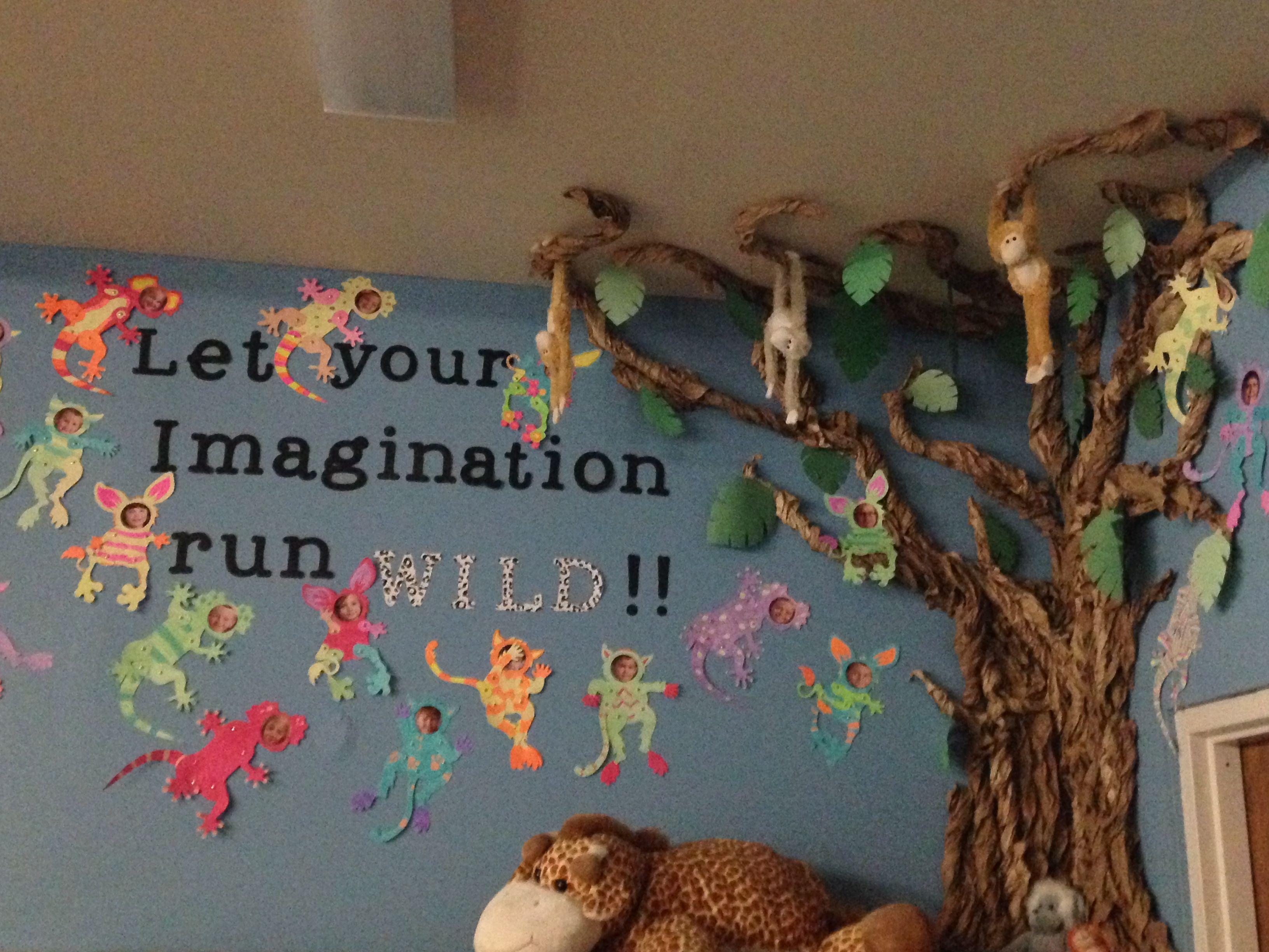 Jungle Theme Daycare Decorations Imagination Wall Daycare Decor