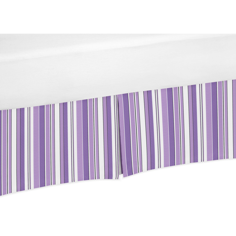 sweet jojo designs kaylee collection purple crib bed skirt