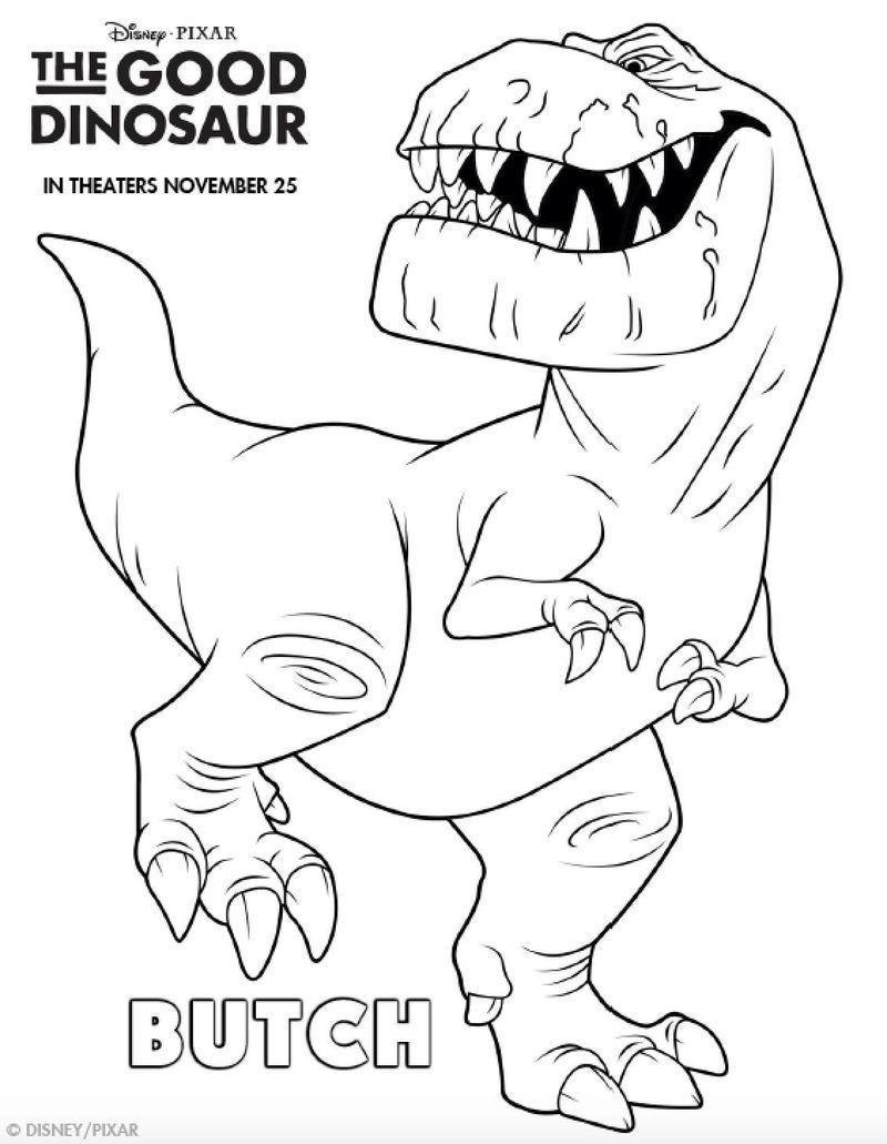 Dinosaur Coloring Pages For Toddlers. The dinosaurs, as we see them in films are indeed extinct, but still inspire children as in the past and will inspire them in the future. The dinosaur... #coloring #printable