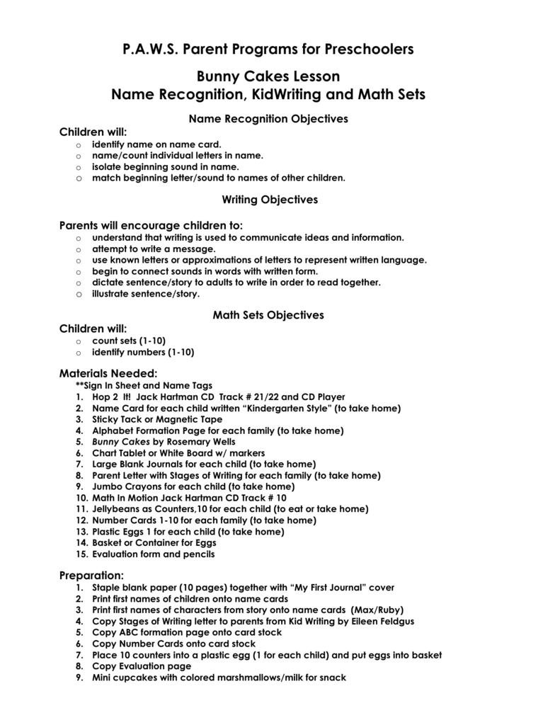 Kindergarten Letter Recognition Lesson Plans. Feels free