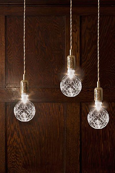Crystal Bulb and Pendant Light @Ellen Page Leach do you think zack would let us switch out the bulbs!?