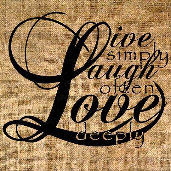 Live Laugh Love Quotes Live Laugh Love Quote Text Digital Collage Sheetgraphique