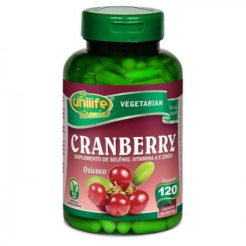 Cranberry Com Selenio Vitamina A E Zinco Contem 120 Capsulas De